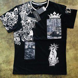 Dolce & Gabbana Casual T-shirt Men's %95 Cotton